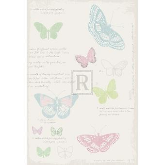 Butterfly Diary Poster Print by Maria Mendez (8 x 12)