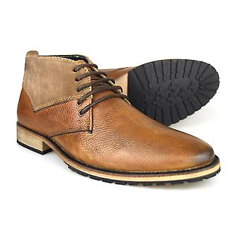 Silver Street London Rathbone Brown Leather Mens Desert Boots