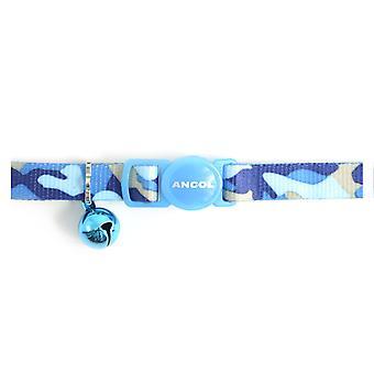 Säkerhet spänne katt krage Camoflage blå (förpackning med 3)