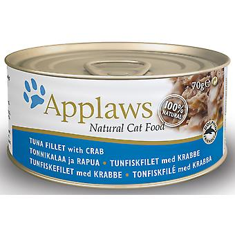 Applaws kat kan tun med krabbe 70g (Pack af 24)