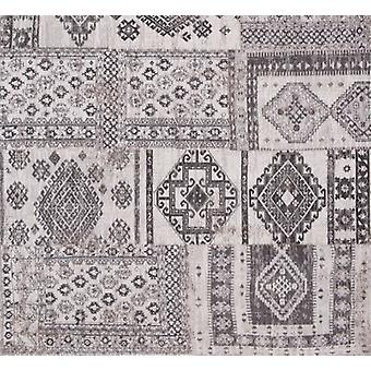 Bohemian Black Russian Grey Square Rug - Louis De Poortere