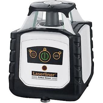 360-degree laser Incl. laser receiver, Self-levelling Laserliner Cubus Green 110 Max. range: 100 m Calibrated to: Manuf