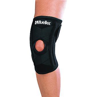 Mueller selvjusterende knæ stabilisator - sort