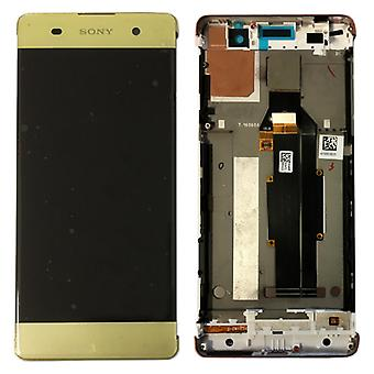 Sony display LCD komplet enhed med ramme for Xperia XA F3111 F3112 kalk guld reservedel