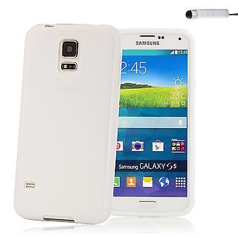 Crystal Gel fallet täcker för Samsung Galaxy S5 Mini (SM-G800) - vit