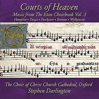 Hampton/Choir of Christ Church Cathedral Oxford - Courts of Heaven: Music From the Eton Choirbook 3 [CD] USA import