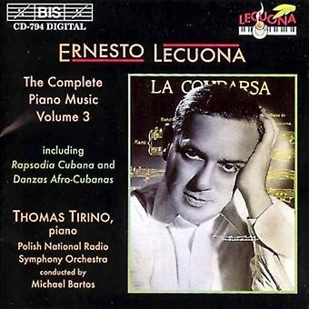 E. Lecuona - kompletny Piano Music, Vol. 3 [CD] USA import