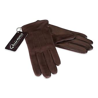 Quivano Ladies Genuine Suede Leather Gloves Fleece Lined Real Womens 312-200
