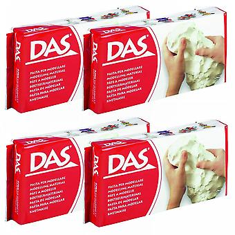DAS Modelling Air Dry Clay White School Pack 4 X 500g Bucket