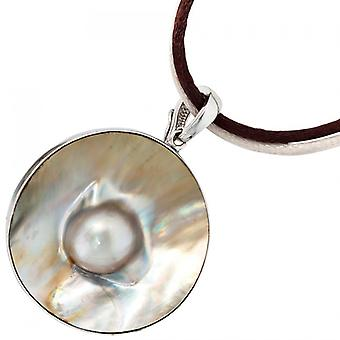 Single earrings-925 /-s Mabeperle Pearl rhodium-plated pendant silver