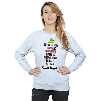 Elf Women's Christmas Cheer Text Sweatshirt