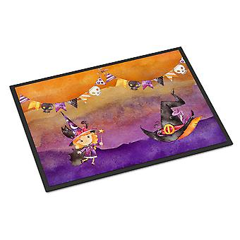 Halloween Little Witch Party Indoor or Outdoor Mat 24x36