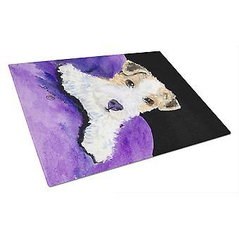 Carolines Treasures  SS8971LCB Fox Terrier Glass Cutting Board Large