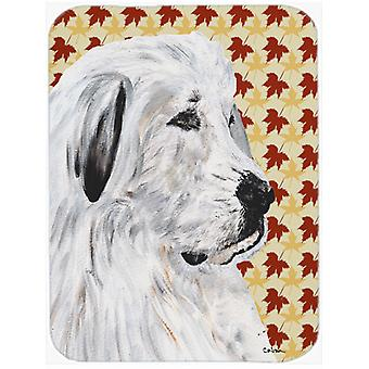 Great Pyrenees Fall Leaves Mouse Pad, Hot Pad or Trivet