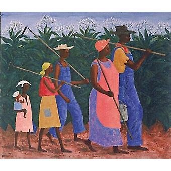 Field Workers Poster Print by Ellis Wilson (26 x 26)