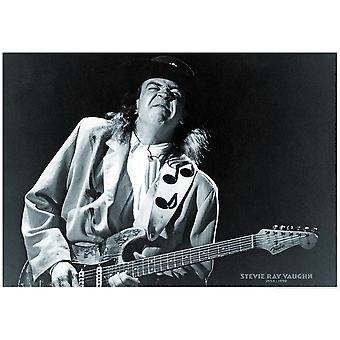 Stevie Ray Vaughan Dates 1954-1990 Poster Poster Print