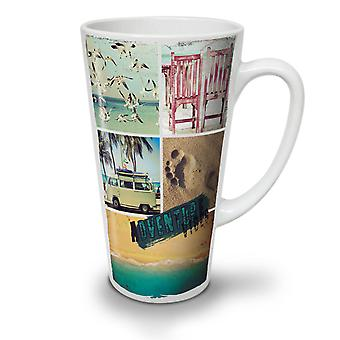 Adventure Travel Holiday NEW White Tea Coffee Ceramic Latte Mug 17 oz | Wellcoda