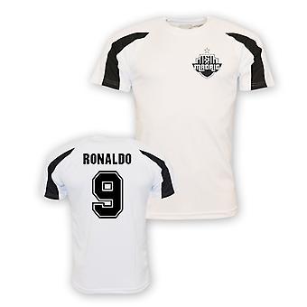 Роналду Реал Спорт подготовки Джерси (белый) - дети