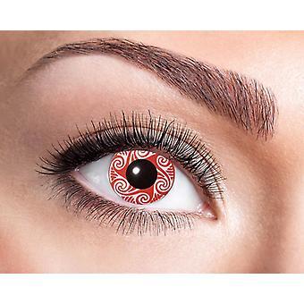 Red Vortex motive contact lenses