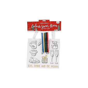 CGB Giftware Christmas Colour In Eat Drink and Be Merry Gift Bag