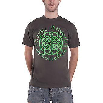 GAA T Shirt Celtic Hurling Football Sport Logo Official Mens New Charcoal Grey