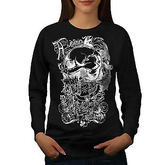 Dood Goth Rider schedel vrouwen BlackSweatshirt | Wellcoda
