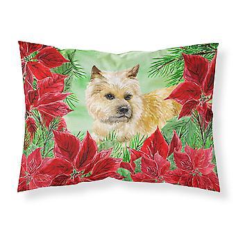 Cairn Terrier Poinsettas Fabric Standard Pillowcase