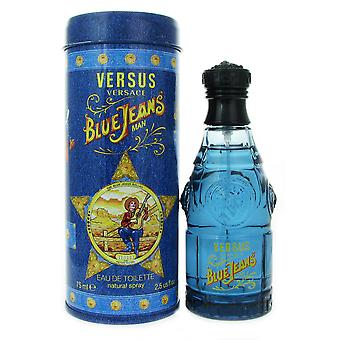 Versace Blue Jeans for Men 2.5 oz 75 ml EDT Spray