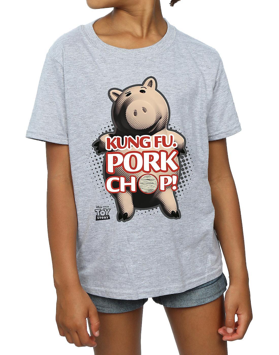 ديزني الفتيات لعبة قصة الكونغ فو فرم لحم الخنزير تي شيرت