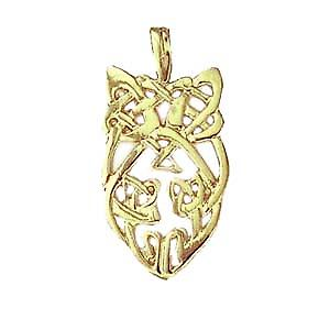 9ct Gold 27x15mm Celtic knot design Pendant