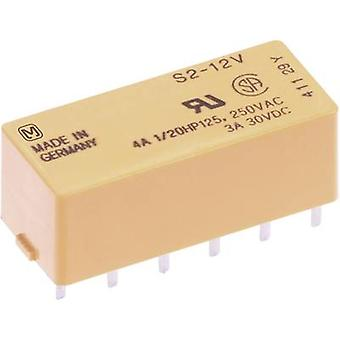 PCB relays 12 Vdc 4 A 2 makers, 2 breakers Panasonic