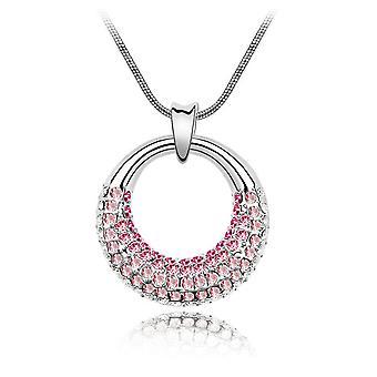 Moonlight pendant adorned with Crystal Rose of Swarovski