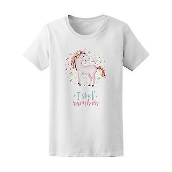 Akvarell Pink Unicorn lukter Rainbow Tee - bilde av Shutterstock