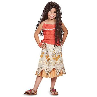 Moana Classic Disney Polynesian Princess Maui Toddler Girls Costume 3T-4T