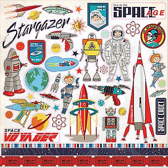 Space Academy Cardstock Stickers 12