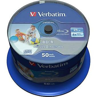 Blank Blu-ray BD-R SL 25 GB Verbatim 43812 50 pc(s)