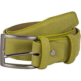 40 Colori Trento Suede Belt - Pastel Yellow