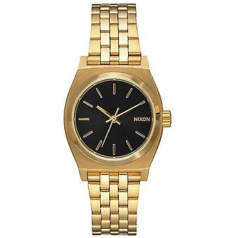 Nixon The Small Time Teller Watch - Gold/Black