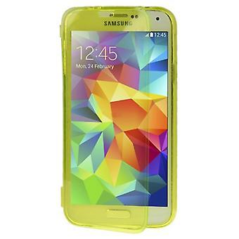 モバイル シェル フリップ携帯電話サムスン Galaxy S5 のクロス/S5 ネオ黄色