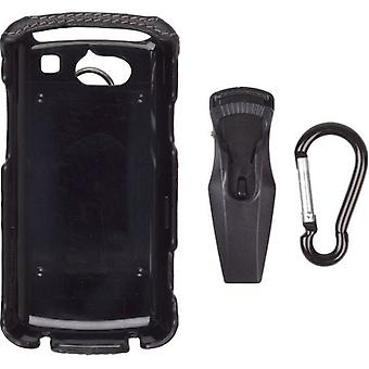 Wireless Solutions Leather Clip-On Case for UTStarcom Quickfire GTX75 - Black