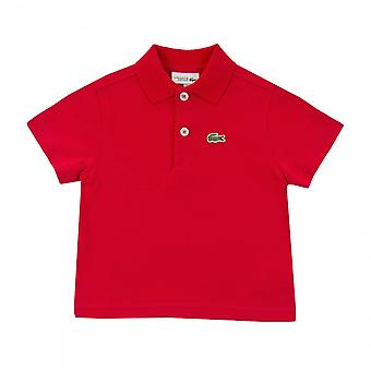Lacoste Sport Juniors Pique Polo Shirt (Red)