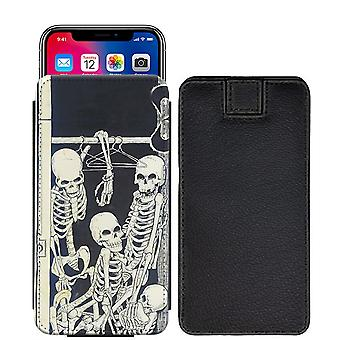 Skull Custom Designed Printed Pull Tab Pouch Phone Case Cover for verykool s5030 Helix II [S] - skull41_web