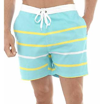 Tom Franks Multi Stripe Print Beach Pool Swimming Knee Length Shorts