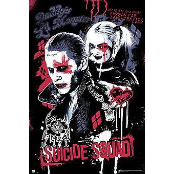 Suicide squad poster Joker en Harley Quinn Margot Robbie, Jared Leto.