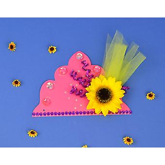 SALE -  100 Pink Tiaras to Decorate | Crown Making Crafts for Kids