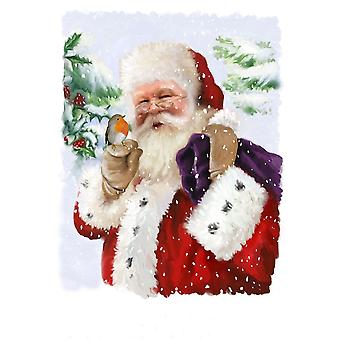 Santa and Friend Poster Print by PS Art