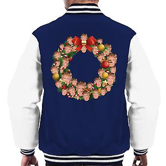 Natale corona Multi Donald Trump Varsity giacca uomo