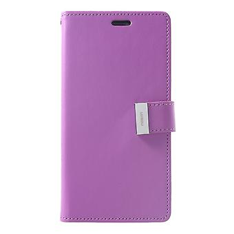 Mercury GOOSPERY Rich Diary to iPhone XS Max-Purple