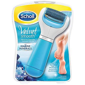 Scholl Velvet Smooth Express Pedi Pedicure Electronic Foot File Roller