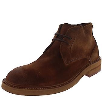 Mens H By Hudson Corelli Chukka Smart Office Suede Brown Ankle Boots